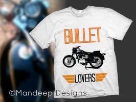 Bullet-lover-T-shirt Design by Mandeep2u