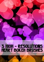 Heart Bokeh Brushes by GENAYNAY