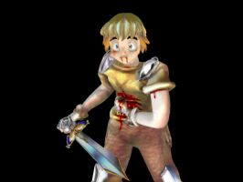 Anime RPG Hero wounded by EricMor