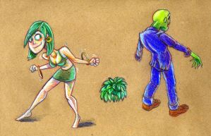 Brown Paper Zombie dance by ronnieraccoon