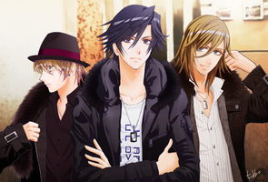 Tokiya and Syo and Ren by chienu