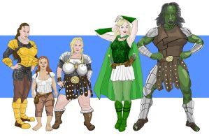 Fantasy Races Females by enchanted-broccoli