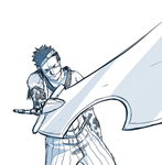 Zabuza draws up Sword sketch by Fomle-chan