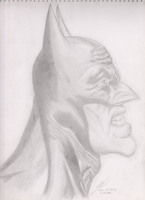 My Rendition of Alex Ross'  Batman by iamtheNoNamer