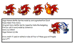 Saga Hanson Battle Sprite Sheet by SagaHanson25