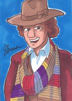 Sketch Card 200 - The Fourth Doctor by destinyhelix