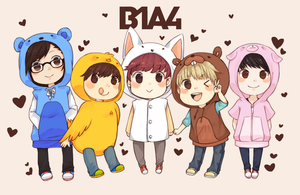 B1A4 ANIMAL BABIES by 7mint-and-chocolate