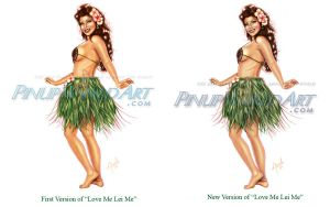 Love me lei me comparison by NicoleBrune
