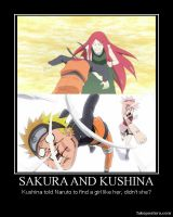 Demotivational - Sakura and Kushina by juanito316ss