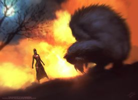 Red and Wolf by jameszapata