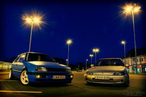 Vento and Civic by mocsa