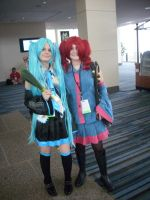 Miku and Teto Cosplay by confuzed-anime-fan