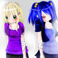 Art trade: Lacy and Lila:D by Temima