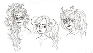 Long Haired Babes by Aymeysa