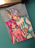 Princess Chibi Usa and Helios ACEO by theNekk