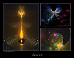 Space Triptych by justravelin
