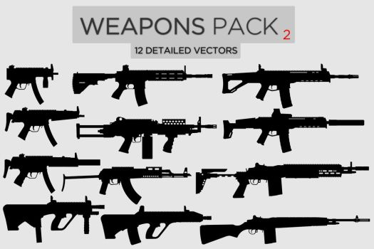 Weapons Pack #2 by Zee-Who