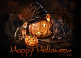 Halloween Cats by Kajenna
