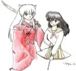 Inuyasha and Kagome by Suzume90