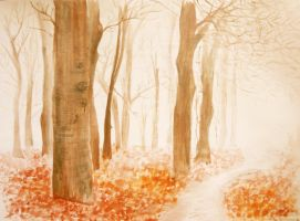 autumn painting by Iulia-Oprinesc