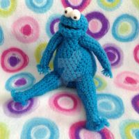 Cookie Monster Amigurumi by MadameWario