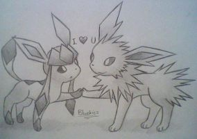 Glaceon x Jolteon 4 by Bluekiss131