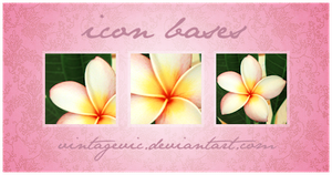Frangipani Icon Bases by vintagevic