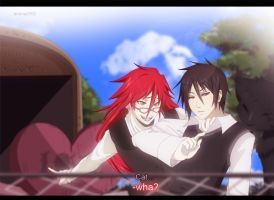 Grell and Sebastian: Cat love by annria2002