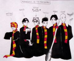 Rammstein as The Marauders by WickedSnowWhite