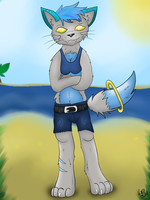 Kyra at the Beach  x3 by CKittyKat98