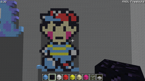 Ness Pixel Art By Me by ProfessorPwnage