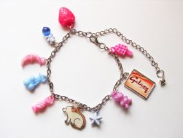 Kitsch Rat Charm Bracelet by philosophyfox