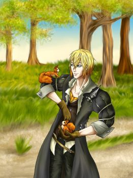Eizen and his squirrels by Bcpupu
