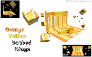 MMD - Orange Yellow Daubed Stage - DOWNLOAD by NyaLinaa