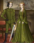 King Christopher and Queen Claudette by evilredcaboose