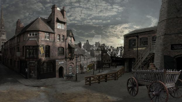 Lonely Old Town,Victorian London by RockhopperVFX