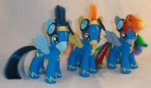 Brushable Wonderbolts Team by Gryphyn-Bloodheart