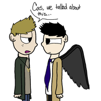 Dean and Cas by Braang