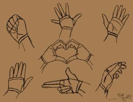 Simple Hand poses by Orlilu