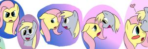 Derpy vs THE STARE by DizzyPacce