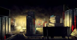 Dusk City BG by JackEavesArt