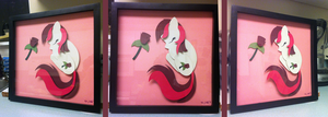Charity Shadowbox: Sleepy Roseluck by The-Paper-Pony