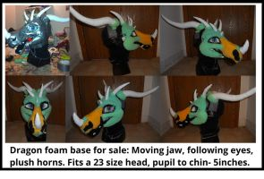 Dragon head base: for sale! by Sharpe19
