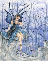 Shades of Blue Faerie by SashaFitzgerald