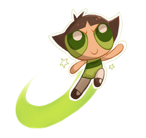 PPG: Buttercup doodle by GothicShoujo