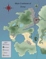 Terna - Main Continent map by Biali
