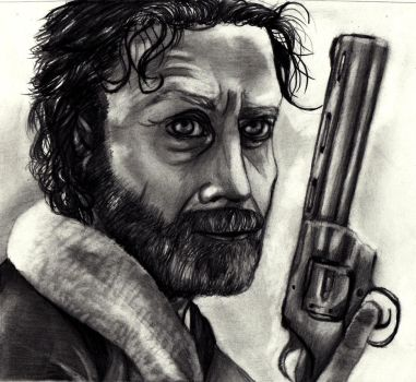 Rick Grimes - Traditional art (The Walking Dead) by Laurenthebumblebee