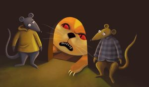 The cat and the two rats 2 by roweig