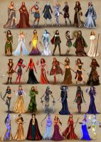 Female heroes of Heroes of Might and Magic 3 by BasakTinli