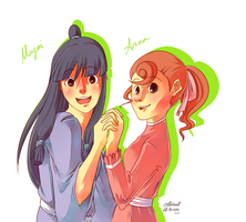 maya and flora by cottonball